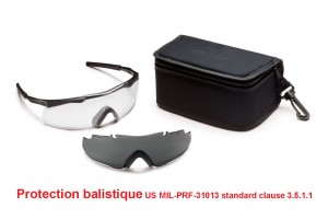 Ballistic shooting glasses