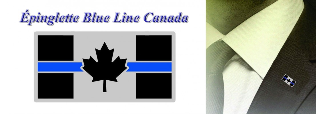 Blue Line Canada pin