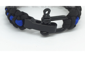 Thin Blue Line adjustable paracorde bracelet
