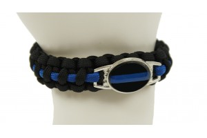 Thin Blue Line paracorde bracelet