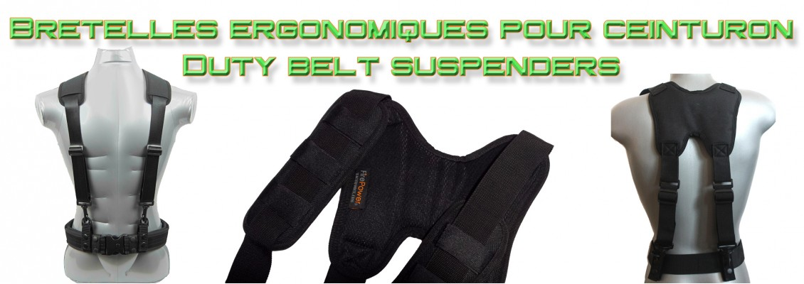 Police duty belt suspenders