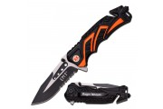 EMT folding rescue knife