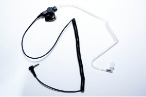 Covert radio earpiece