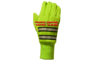 Traffic control winter gloves
