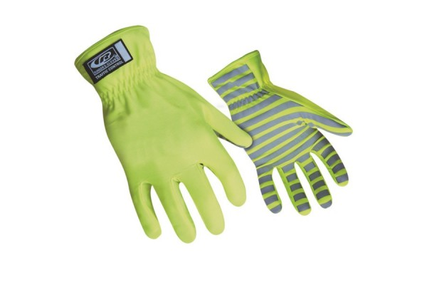 Hi Vis traffic control gloves
