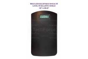 "Level III ballistic shield 19""x36"""